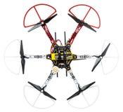 Hexacopter-Brummen auf Weiß Stockfoto