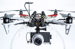 Hexacopter drone with camera Stock Images