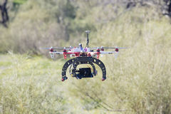 Hexacopter flying Stock Photography