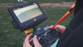 Hexacopter teledirigido del abejón almacen de video