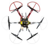 Hexacopter truteń na bielu Zdjęcie Stock