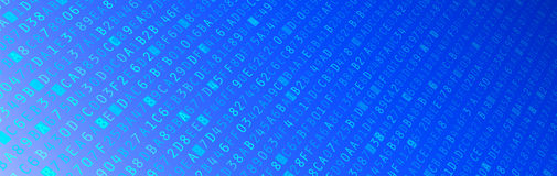 Hexadecimal Code Banner Stock Photography