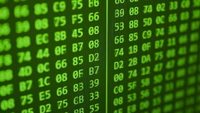 Hexadecimal program code scrolling stock footage