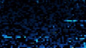 Hexadezimaler Hintergrund Digital Digitaler Code der großen Daten Futuristisches Informationstechnologiekonzept stock video