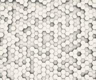Hexagon άσπρος τοίχος σχεδίων μορφής Στοκ εικόνα με δικαίωμα ελεύθερης χρήσης