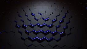 Hexagon μπλε σχεδίων Στοκ Εικόνες