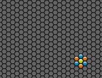 hexagon πλέγμα ανασκόπησης διανυσματική απεικόνιση