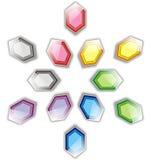 Hexagon σχέδιο αστεριών Στοκ Φωτογραφία