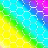 Hexagon υπόβαθρο σχεδίων περιλήψεων Στοκ φωτογραφίες με δικαίωμα ελεύθερης χρήσης