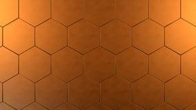 Hexagon υπόβαθρο χαλκού Στοκ Εικόνες