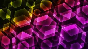 Hexagon ψηφιακό ζωηρόχρωμο υπόβαθρο τεχνολογίας Στοκ εικόνα με δικαίωμα ελεύθερης χρήσης