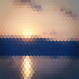 Χλωμό hexagon υπόβαθρο ηλιοβασιλέματος Στοκ Φωτογραφίες