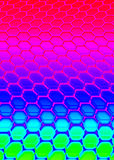 Hexagon. Pattern multicolor Stock Photography