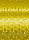 Hexagon. Gold hexagon pattern stock illustration