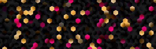 Hexagon abstract background. Polygon hexagon abstract background. design geometrical texture. pattern honeycomb Stock Photography