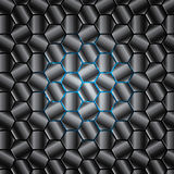 Hexagon abstract background texture metal. Hexagon abstract background texture vector shiny metallic blue light Royalty Free Stock Image