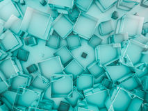 Hexagon abstract glass background. 3D. Rendering Stock Image