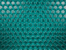 Hexagon abstract glass background. 3D. Rendering Stock Photography