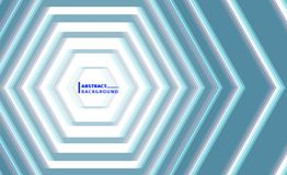 Hexagon Abstract Illustration. Hexagon Abstract Background Digital Effect Vector Illustration, Blue Background Stock Images