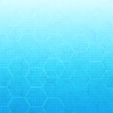 Hexagon abstract medical background Royalty Free Stock Images