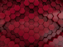 Hexagon abstract red background. 3D Royalty Free Stock Image