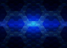 Hexagon abstract technology background illustration. Hexagon abstract technology background template design Stock Photo