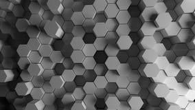 Hexagon achtergrond Stock Afbeelding