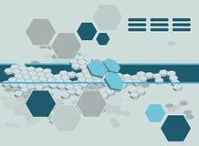 Hexagon achtergrond royalty-vrije illustratie