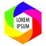 Hexagon achtergrond voor tekst Heldere kleurenvorm Abstract embleem Vector Royalty-vrije Stock Fotografie