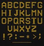 Hexagon Alphabet. Hexagon Shaped Alphabet on high tech texture vector illustration