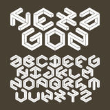 Hexagon alphabet made of impossible shapes royalty free illustration