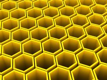 Hexagon array background Stock Image