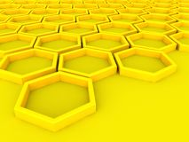 Hexagon array background Stock Images