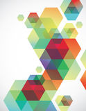 Hexagon Background. Cool transparent multi-colored geometric background Royalty Free Stock Image