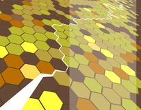 Hexagon background. An abstract hexagon background stock illustration