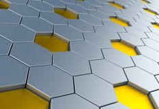 Hexagon background. Abstract background which can be used as a design element. 3d illustration stock illustration