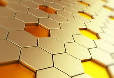 Hexagon background. Abstract background which can be used as a design element. 3d illustration vector illustration