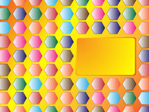 Hexagon background with banner. Abstract background of hexagon shapes with banner Stock Photography