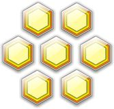 Hexagon background Royalty Free Stock Photos