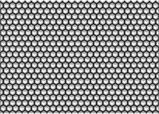 Hexagon background black and white Royalty Free Stock Photo