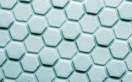 Hexagon background. Closeup of rubber hexagon background Royalty Free Stock Image