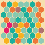 Hexagon background Royalty Free Stock Photos