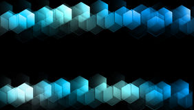 Hexagon background. Draw light hexagon abstract background Royalty Free Stock Images