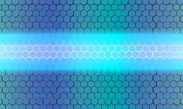 Hexagon background. Draw hexagon background light blue Stock Images