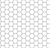 Hexagon background seamless comb Royalty Free Stock Images