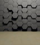 Hexagon. Background, shallow depth, lighting and flooring Stock Photos