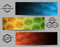 Hexagon Banner Set Royalty Free Stock Photos