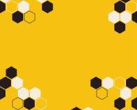 Hexagon abstract vector yellow background vector illustration