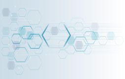 Hexagon Bee Hive Design Art And Space Background Royalty Free Stock Images
