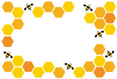 Hexagon bee hive design art and space background vector Royalty Free Stock Image